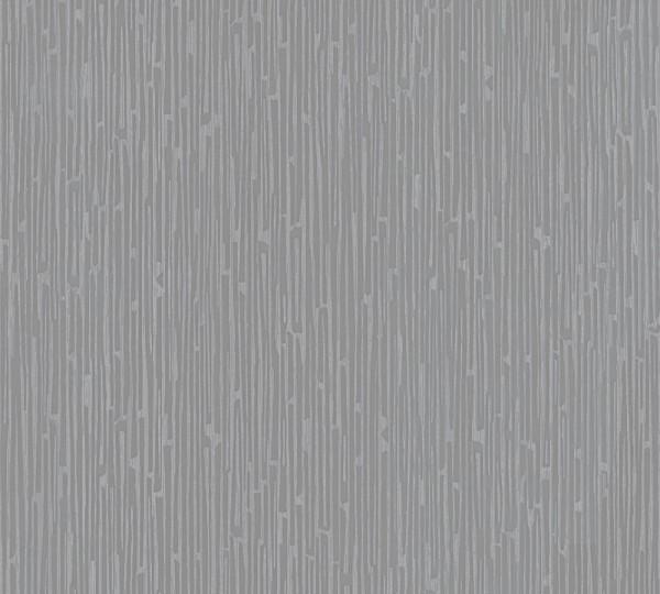 Vlies Tapete Uni Struktur grau metallic