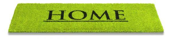 Kokos Fußmatte Ruco Print Home Lime 26 x 75 cm