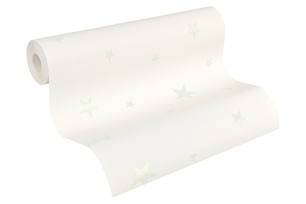 Vlies Leuchttapete / Deckentapete Sterne weiß