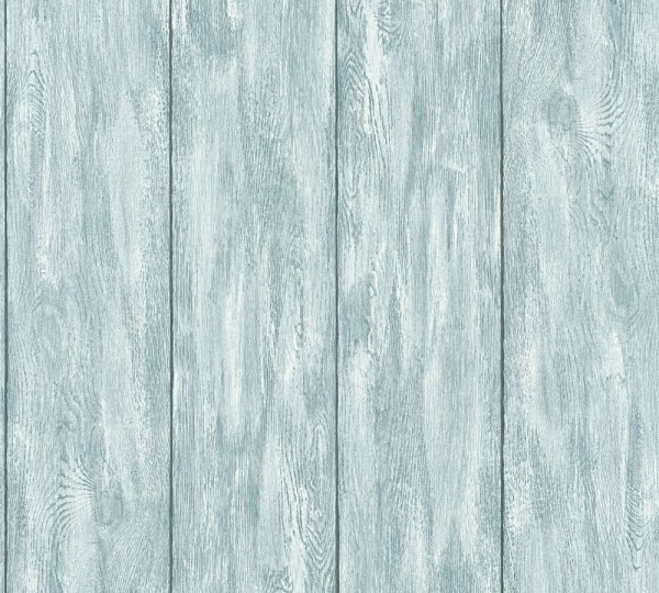 Landhaus Holzbalken blau Vliestapete Marie