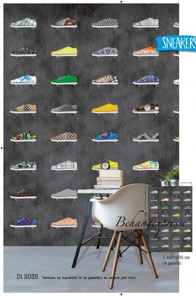 Vlies Fototapete Sneakers Schuhe Wandbild 200 x 300cm DI2035
