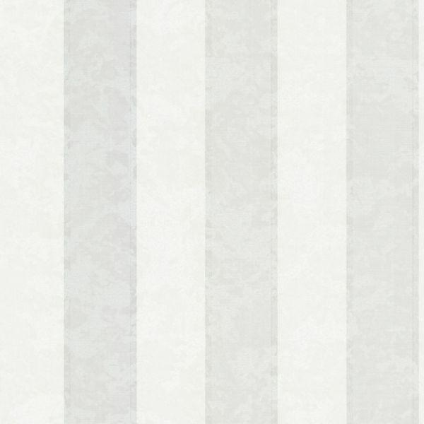 Vlies Streifentapete Textil Optik meliert creme weiß Italy