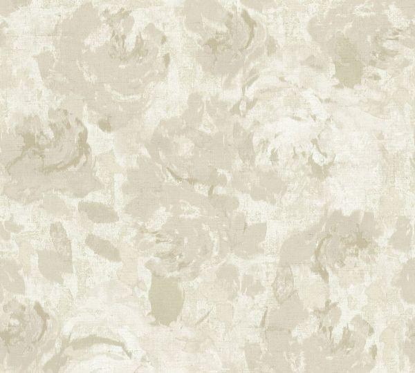Florales Muster Vliestapete beige creme grau Character