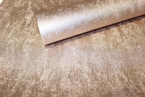 Vliestapete Uni Struktur rose gold metallic glanz