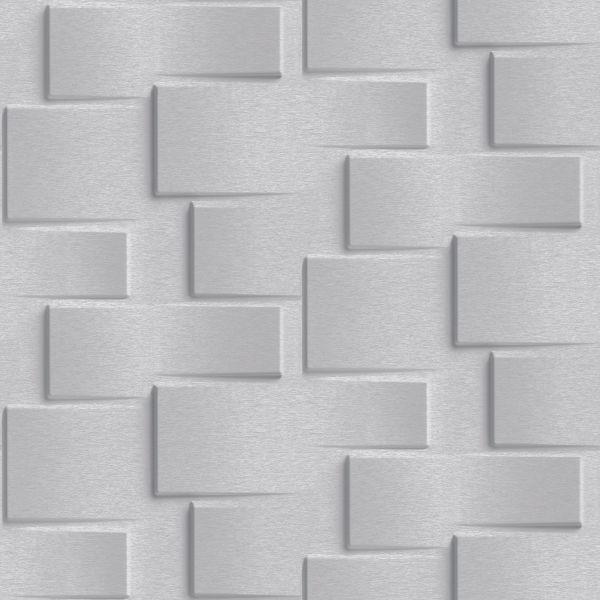 Vliestapete 3D Steinwand grau