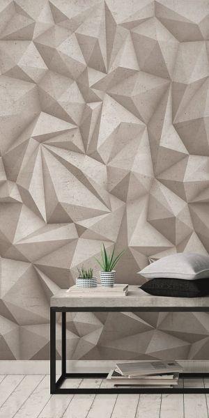 Vlies Fototapete 3D Beton Stein Optik grau Wandbild 1,59mx2,80m