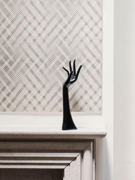 Vliestapete Ethno Zickzack Muster creme beige grau metallic