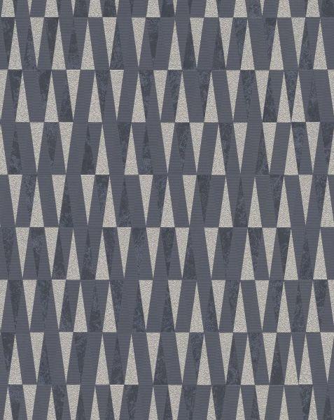 Vliestapete Carat stilvolle Dreiecke schwarz weiß gold glänzend