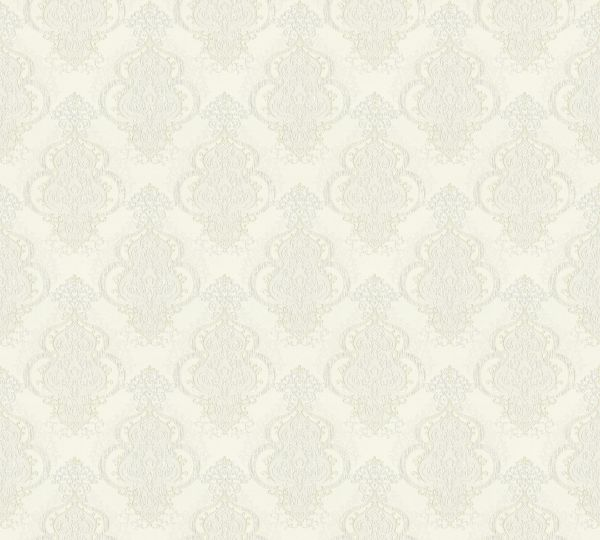 Vliestapete Barock Ornament creme weiß metallic Großrolle