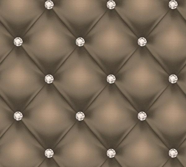 Vliestapete Leder Optik Diamant dunkelbraun