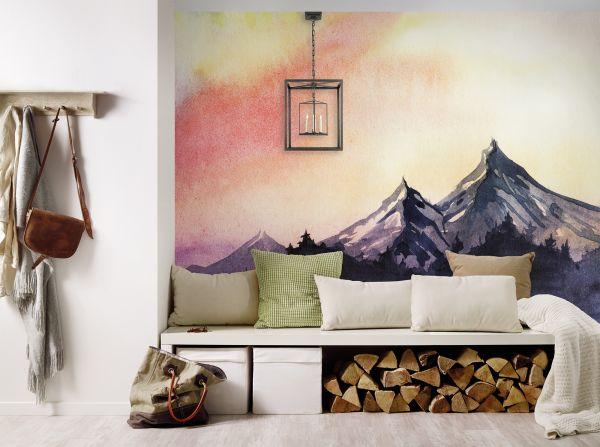Fototapete Digitaldruck Bergmalerei 255 x 350 cm