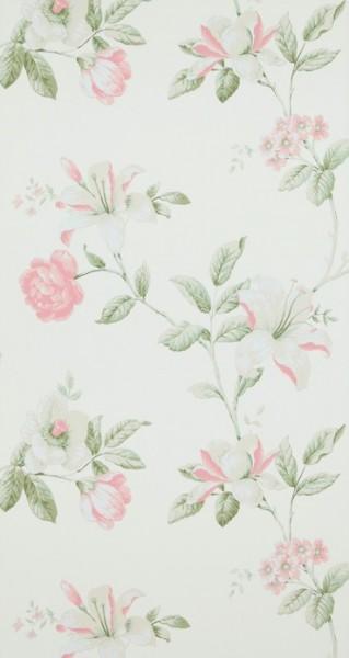 Vliestapete Blumenmuster creme weiß rosé summer breeze