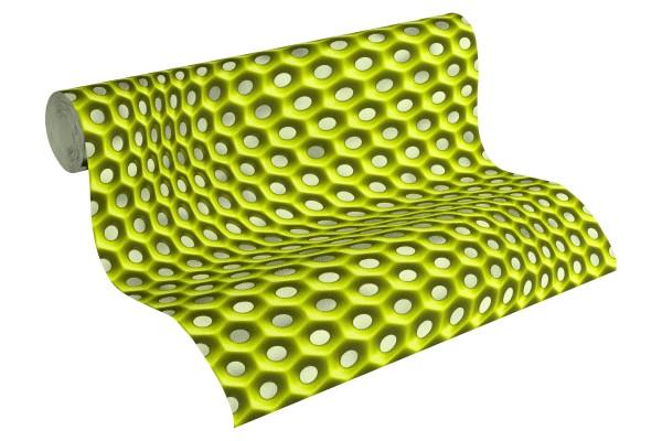 Vliestapete Retro 3D grün by Mac Stopa
