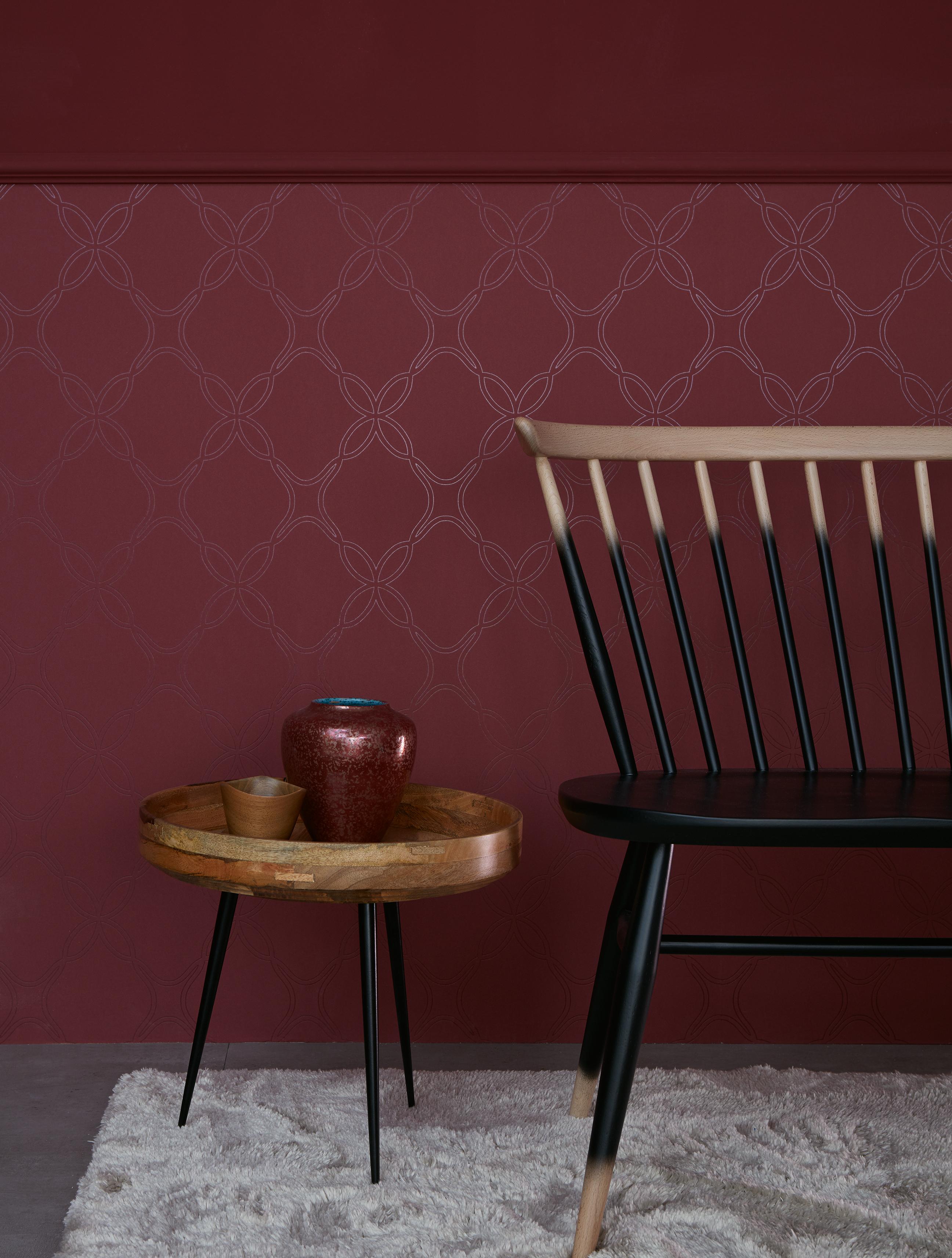 rote tapeten joratrend tapetenshop. Black Bedroom Furniture Sets. Home Design Ideas