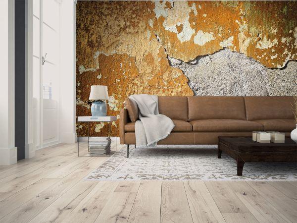 Fototapete Digitaldruck alte Betonwand verwittert 255 x 350 cm