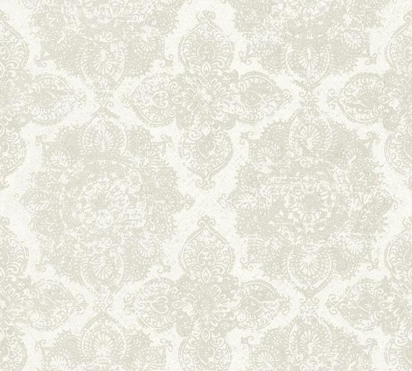 Boheme Ornament Vlies Tapete beige grau