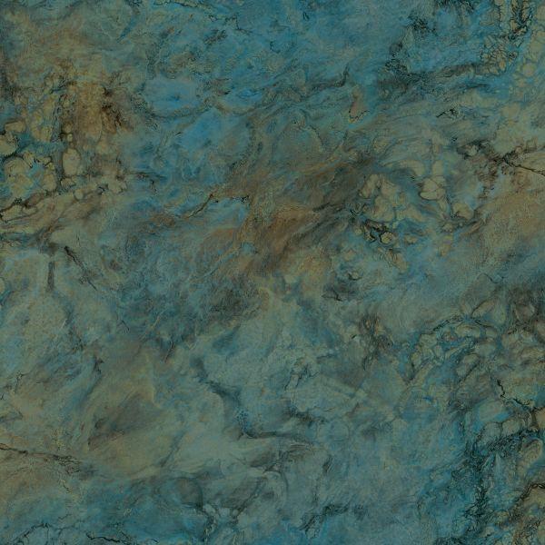 Vliestapete Marmor Optik petrol grün braun gold metallic