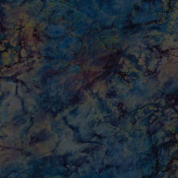 Vliestapete Marmor Optik petrol braun blau gold metallic