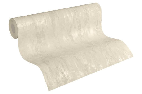 Steintapete Patina Struktur creme beige metallic