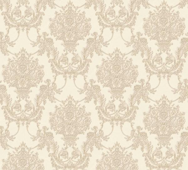 Vliestapete Barock Ornament creme beige Chateau 5