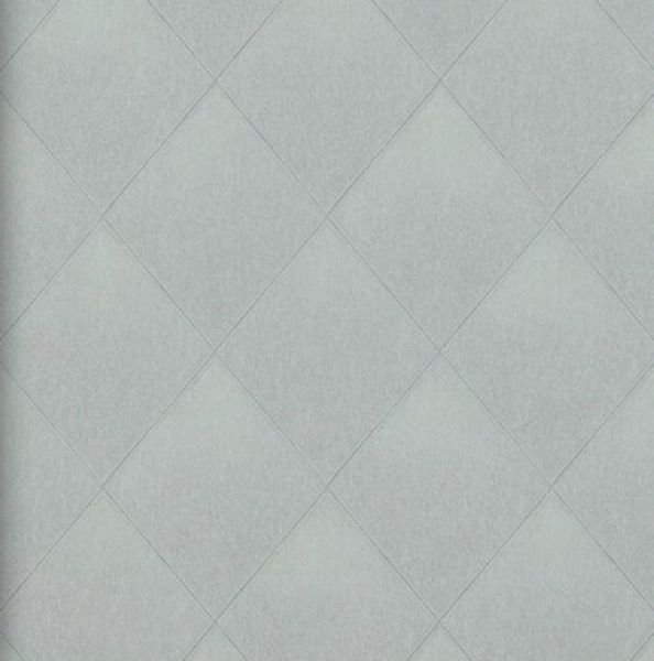 Vlies Tapete Rauten Muster grau kariert textil jeans optik