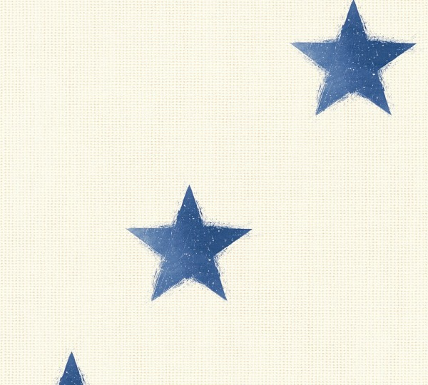 Vliestapete Sterne maritim beige blau Côte d`Azur