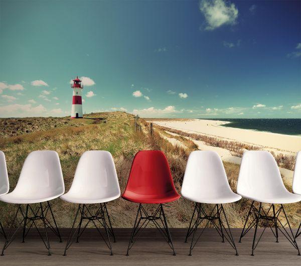 Fototapete Digitaldruck Leuchtturm Strand 255 x 350 cm