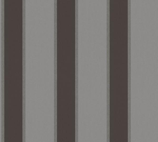 Vlies Tapete Streifen grau schwarz metallic