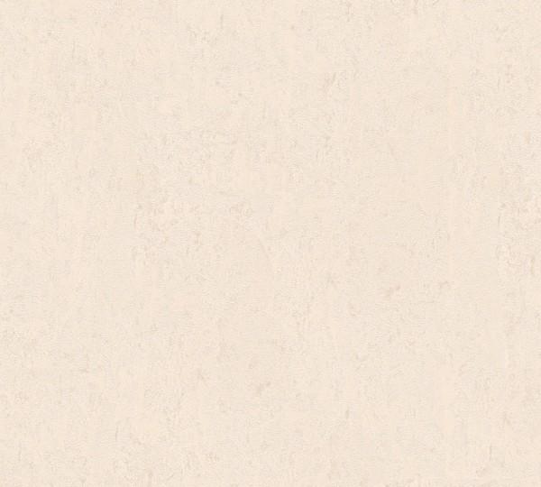 Vliestapete Uni Struktur glanz creme silber
