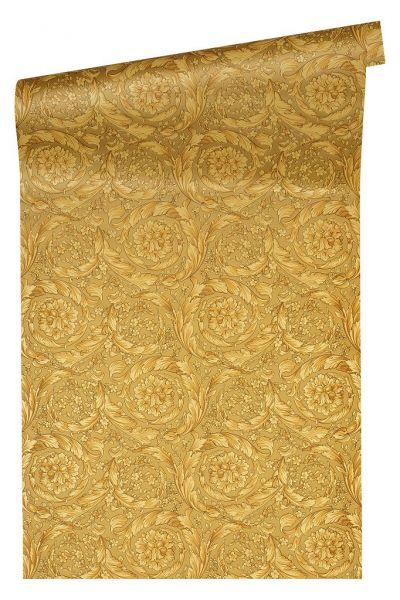 Versace 4 Tapete Federn Kreis Ornament gold metallic