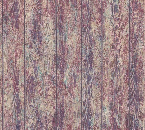 Vliestapete Holz Optik Paneele bunt verwittert