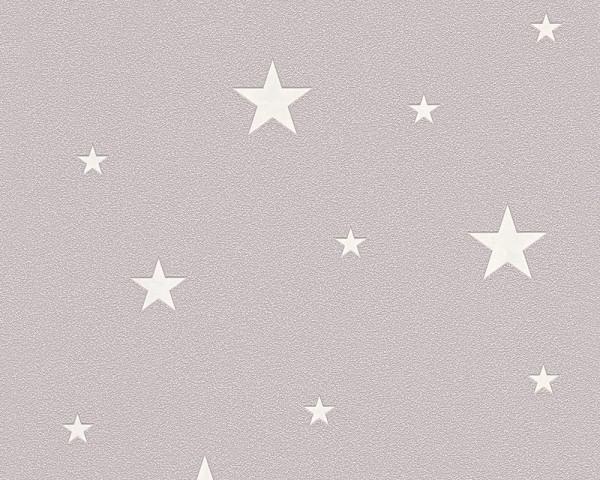 Vlies Leuchttapete Sterne taupe