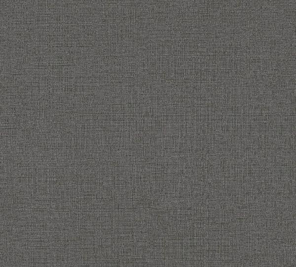 Vliestapete Uni Struktur Textil Leinen Optik schwarz grau