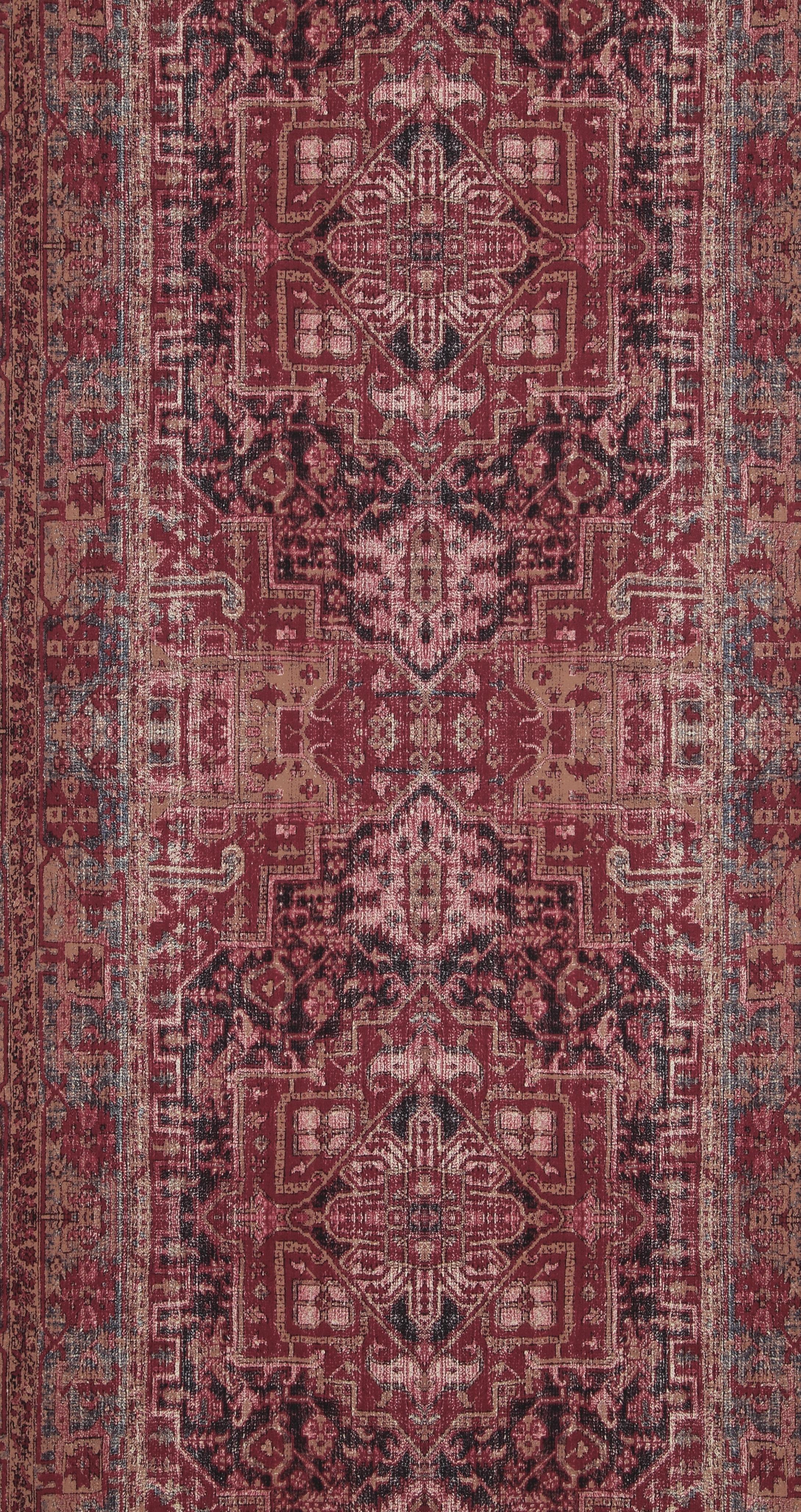 Tapete Orientalisches Muster vliestapete wandteppich muster orientalisch bordeaux rot ethno