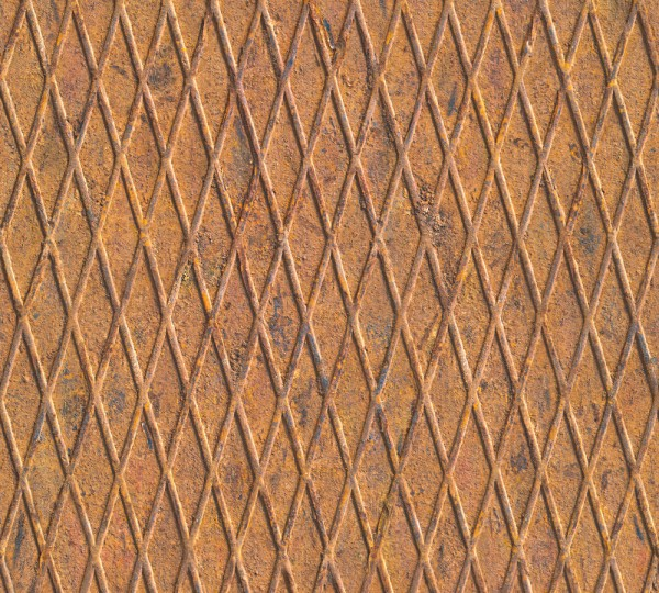 Vlies Tapete Riffelblech optik rost braun