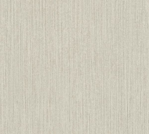 Vliestapete Uni dezente Streifen creme grau
