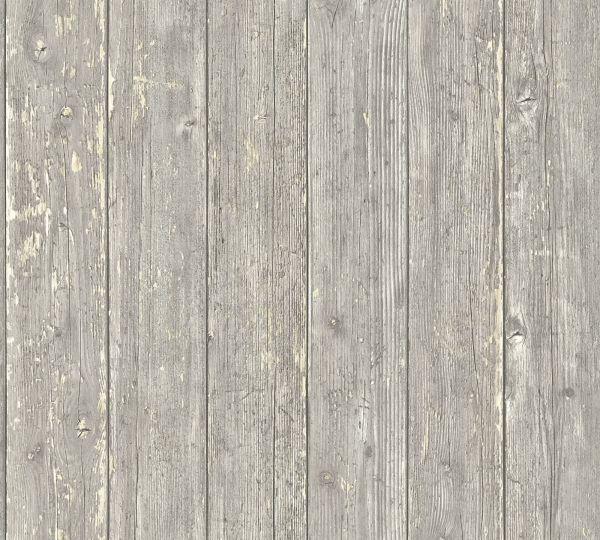 Vliestapete Landhaus Holzbalken Bretter brau grau beige verwittert