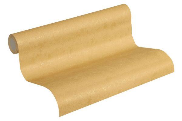 Uni Struktur Vliestapete gold meliert metallic