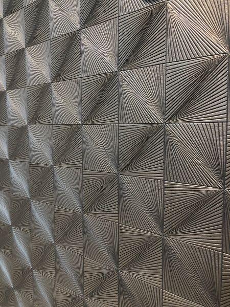 Geometrische Metall Optik Struktur Vliestapete