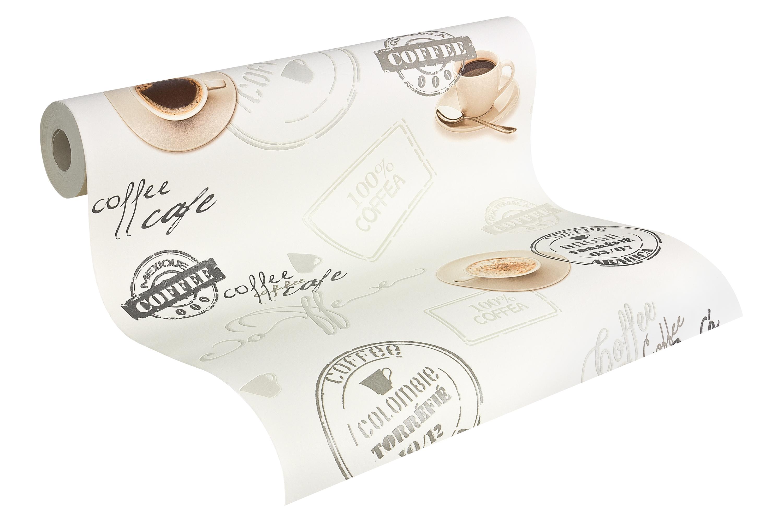 Vinyl Tapete Coffee Cafe creme braun Küche Esszimmer