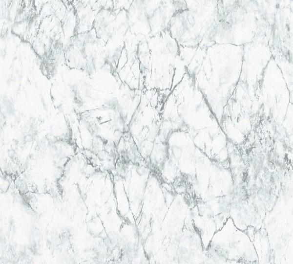 Vliestapete A.S Création Neue Bude 2.0 Marmor Optik weiß grau