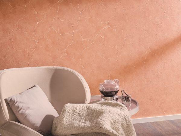 Vliestapete Beton Optik Marmor Struktur Stein Wand terra apricot orange