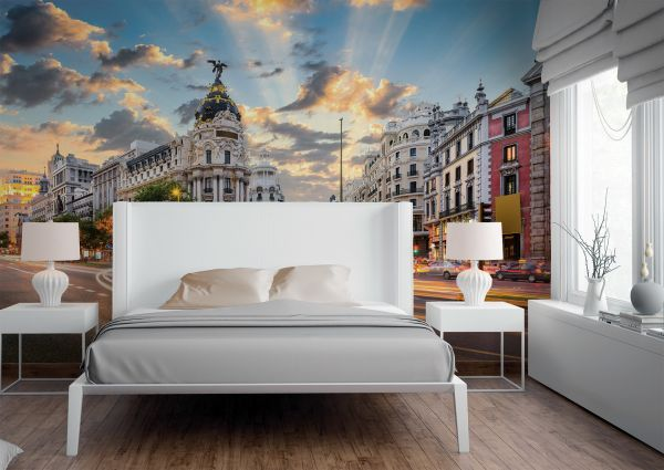 Fototapete Digitaldruck Gran Via Madrid 255 x 350 cm