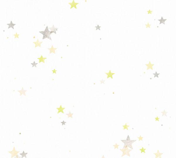 Esprit Kids Tapete Sterne grau grün weiß