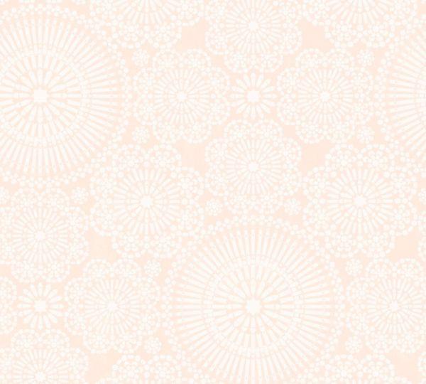 Vliestapete Blumen Mandala rosa weiß