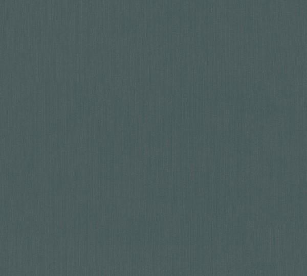Vlies Tapete Uni Struktur petrol blau