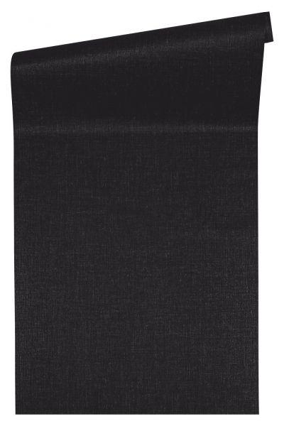 Uni Struktur Vliestapete schwarz Versace 4