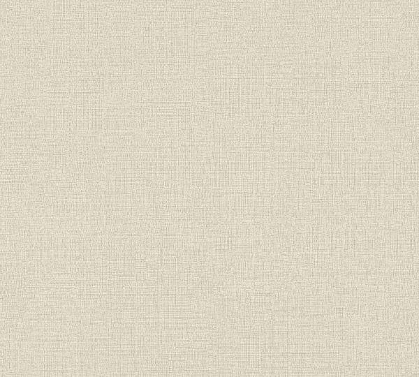 Vliestapete Uni Struktur Textil Leinen Optik beige