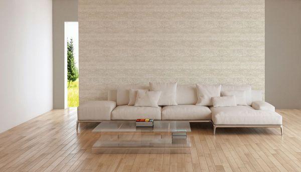 Vliestapete Textil Used Look Balken Optik creme beige