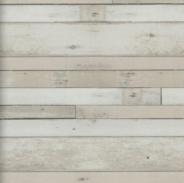 Vliestapete Antik Holz Bretter vertäfelung beige braun